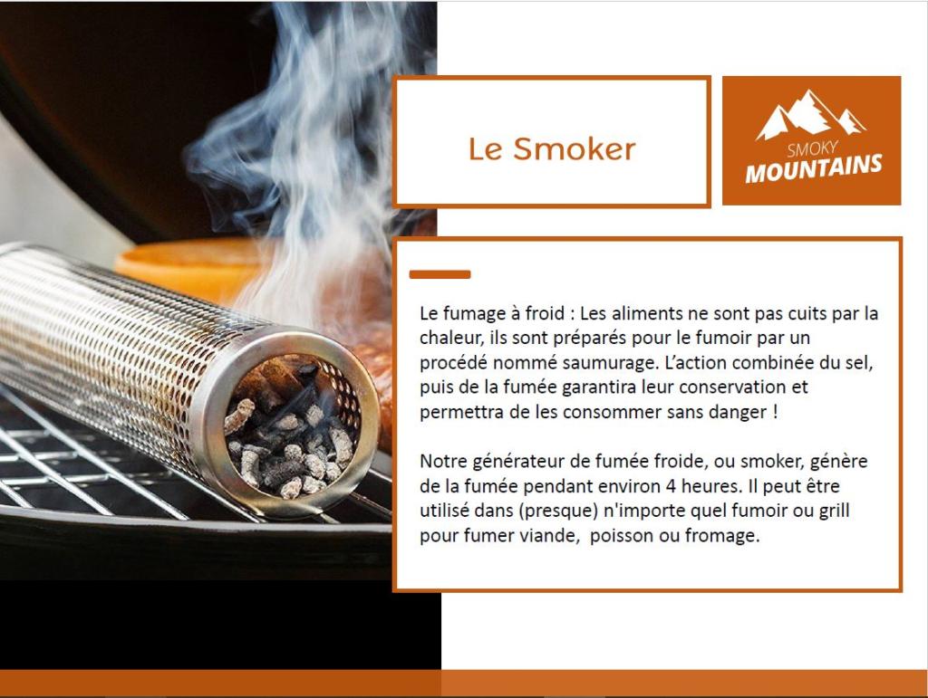 Le générateur de fumée froide Smoker de Smoky Mountain.