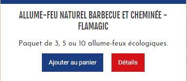 Flamagic disponible sur un coq dans le transat