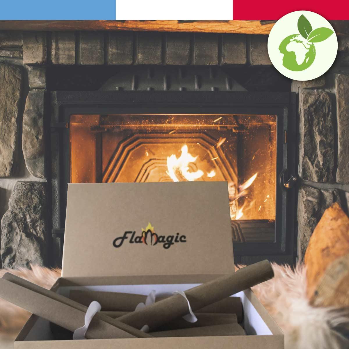 Boite d'allume feux écologiques Flamagic - décorative et rechargeable