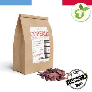 Sachet de copeaux de fumage 750g - Bois de chêne - Fumet vin rouge